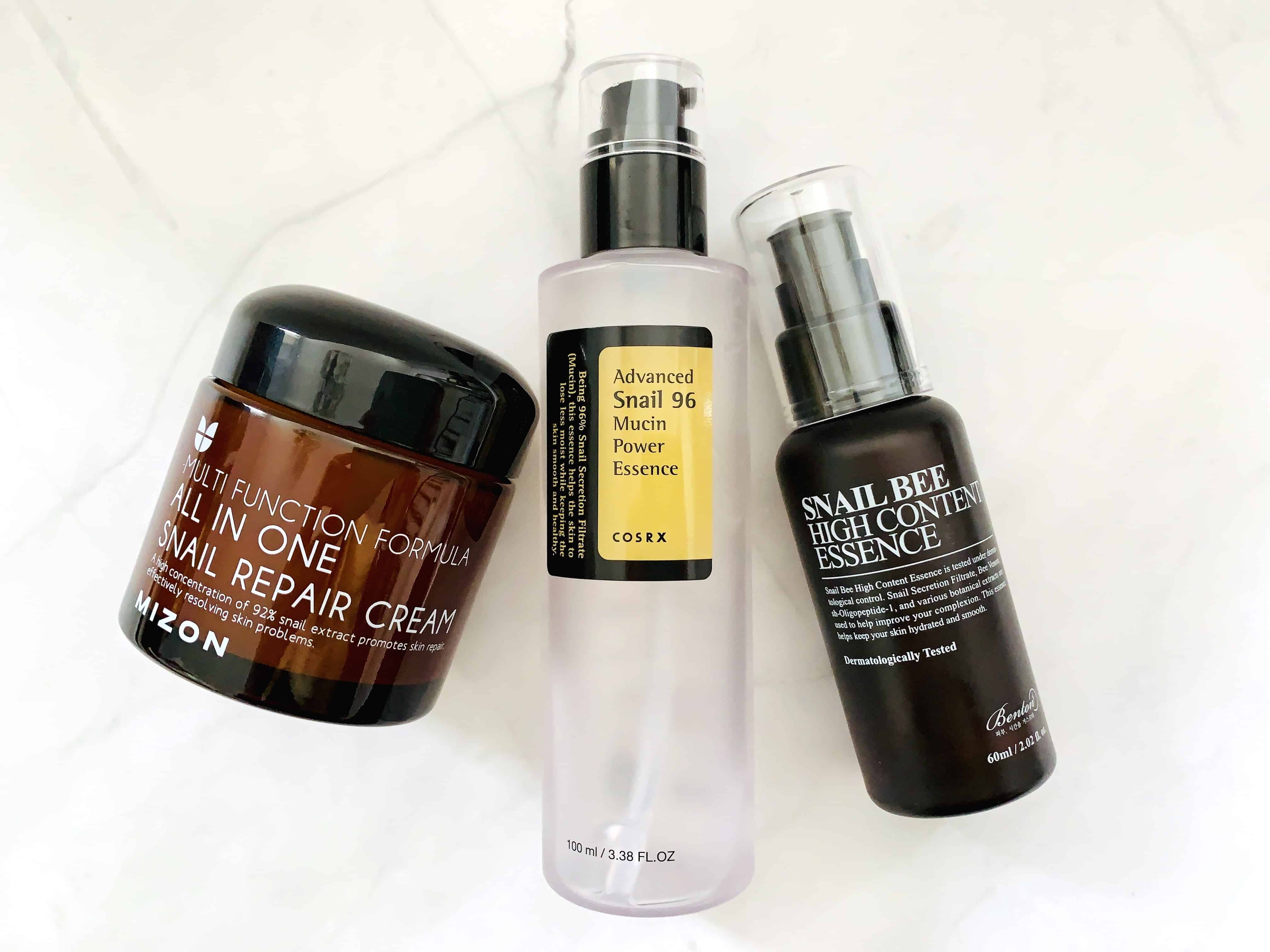 Best Snail Mucin Skincare Products from Mizon, Cosrx and Benton