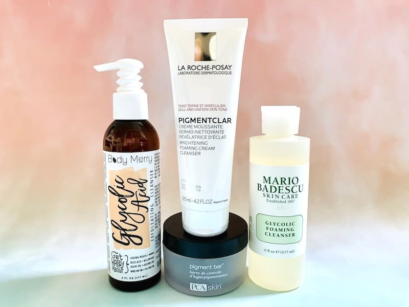 Best Face Washes Hyperpigmentation and Dark Spots from Body Merry, La Roche-Posay, PCA Skin and Mario Badescu