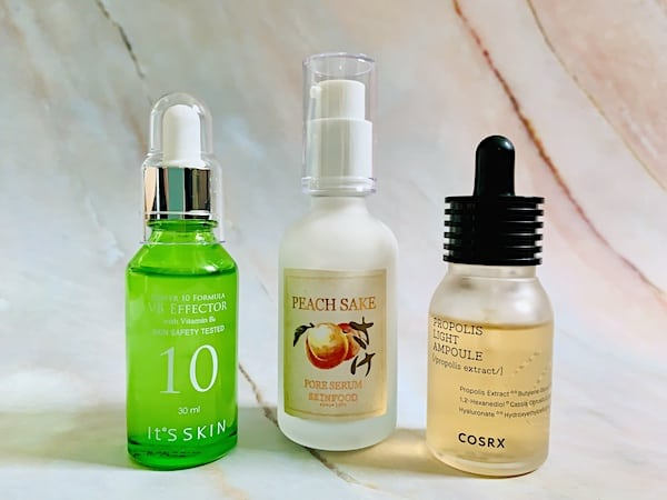 Korean Serums for Oily Skin from It's Skin, SkinFood and Cosrx