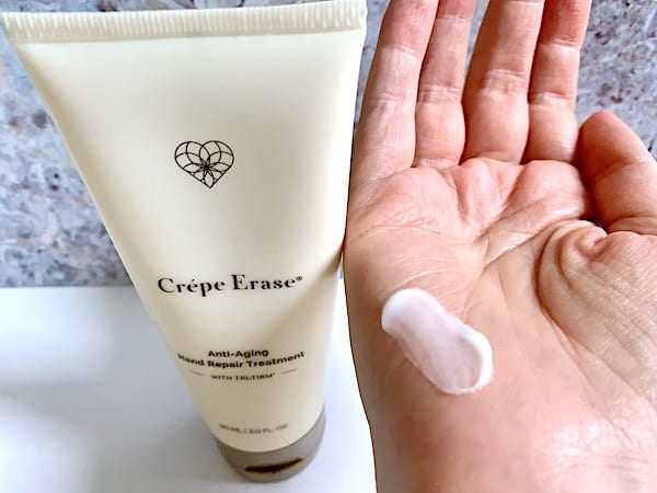 Crepe Erase Anti-Aging Hand Repair Treatment Sampled on Hand
