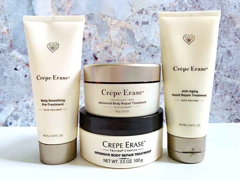 Crepe Erase Review: Crepe Erase Body Smoothing Pre-Treatment, Advanced Body Repair Treatment, Intensive Body Repair Treatment and Anti-aging Hand Repair Treatment