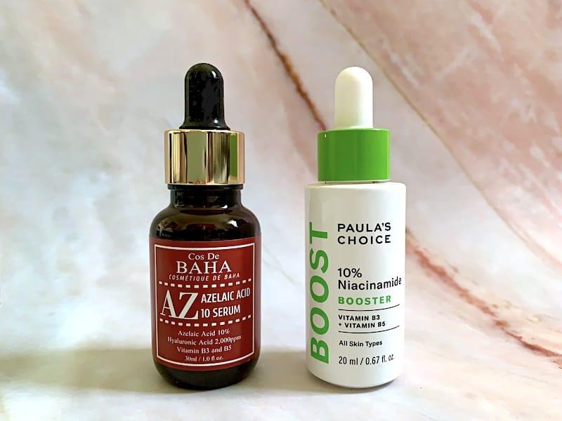 Cos De Baha Azelaic Acid 10% Serum and Paula's Choice Boost 10% Niacinamide Booster Serum