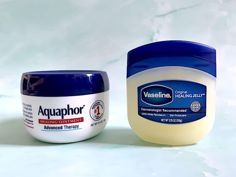 Aquaphor vs Vaseline: Aquaphor Healing Ointment and Vaseline Original Healing Jelly